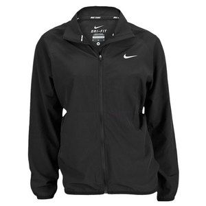 If you buy ONE jacket this season, make it this one! NIKE WOMENS WOVEN FULL ZIP JACKET BLACK