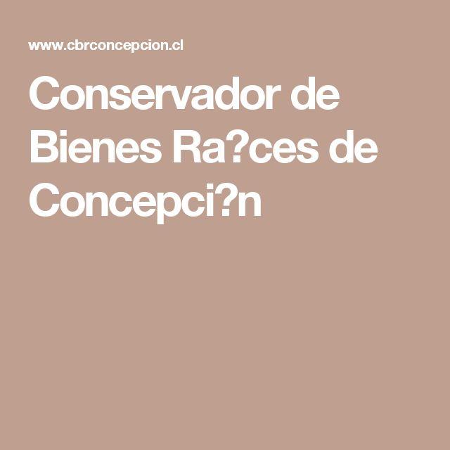 Conservador de Bienes Ra�ces de Concepci�n