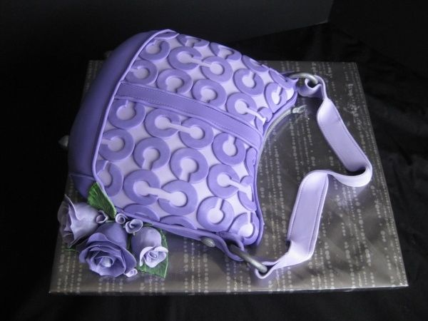 Image result for cakes shaped like Coach purses