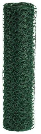Grillage Triple torsion Hexagonal.  Fil d'acier galvanisé plastifié diam. 1 mm. Maille hexagonale 25 mm. Garantie 2 ans(A).