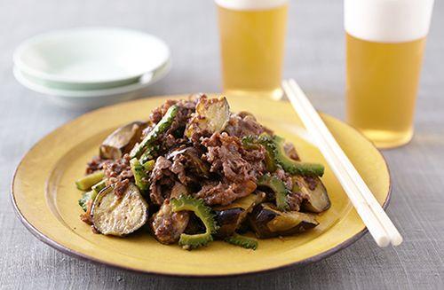 ゴーヤとなす、牛肉のみそ炒め   お酒にピッタリ!おすすめレシピ   サッポロビール