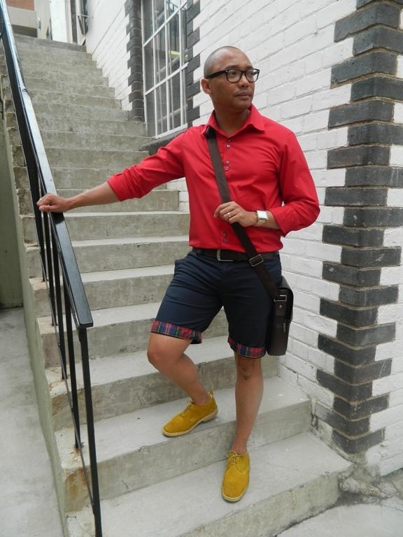 My stylish husband.