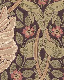 Tapet Pimpernel Bullrush/Russet från William Morris & Co