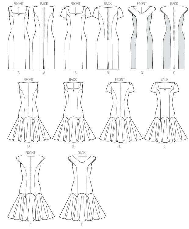 Click to magnify/shrink Vogue pattern