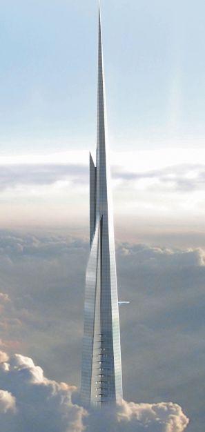 Ce sera la première structure réalisée par l'homme à dépasser les 1000mètres de hauteur. Après avoir conçu Burj Khalifa (828mètres) à Dubai, l'architecte américain Adrian Smith va battre tous les records avec la Jeddah Tower en Arabie saoudite.