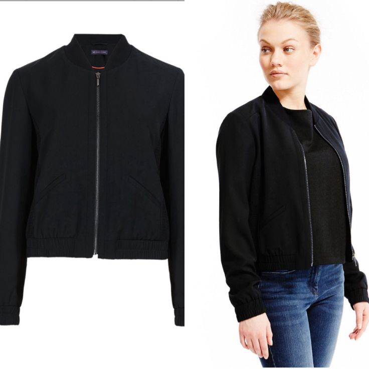 TO BUY: M&S - Petite Side Mesh Bomber Jacket £59