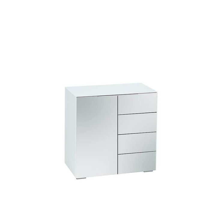 Garderoben Kommode in Weiß Spiegelglas 80 cm hoch Jetzt bestellen unter: https://moebel.ladendirekt.de/wohnzimmer/schraenke/kommoden/?uid=cc36d18d-b3ac-5771-b8e2-dd61f9696230&utm_source=pinterest&utm_medium=pin&utm_campaign=boards #schraenke #flur #wohnzimmerkommode #garderobenkommode #flurkommode #kommoden #wohnzimmer #kommode #küchenkommode