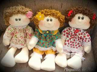 Boneca de pano: Doll, The Tela, Cloth, Dolls, Handmade Dolls