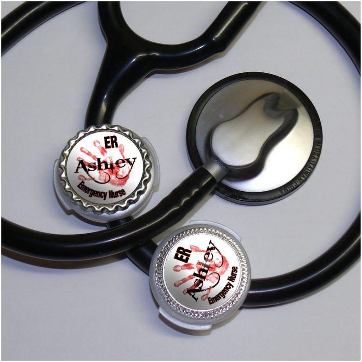 Emergency Name Stethoscope Id Tag  Personalized by DestinationLtd