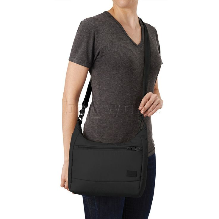 Bagworld Australia | Shop | Viewing Pacsafe Citysafe CS100 RFID Blocking Anti-Theft Tablet Handbag Black 20210
