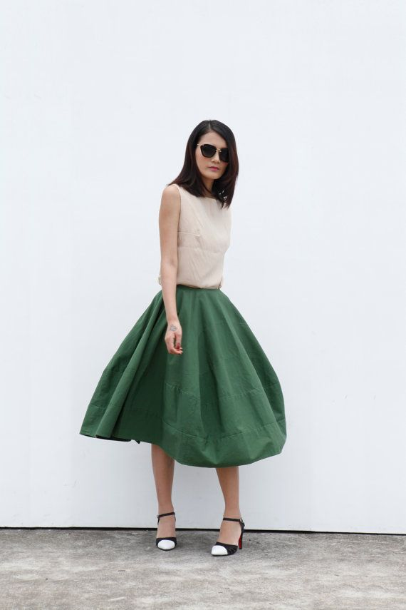 New Design Romantic Bud Skirt Cotton Skirt in by Sophiaclothing, $74.99