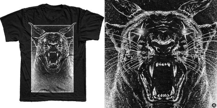 """""""Fierce"""" t-shirt design by sebrodbrick"""