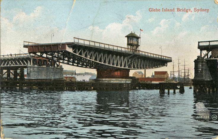 Glebe Island Bridge, Sydney, Australia (postcard) ca. 1915. v@e.
