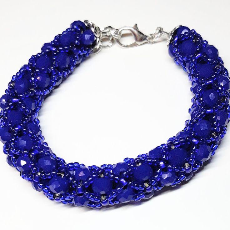 #bracelet #rondelle #cobalt #toho