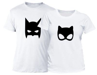Set tricouri cuplu Superheroes
