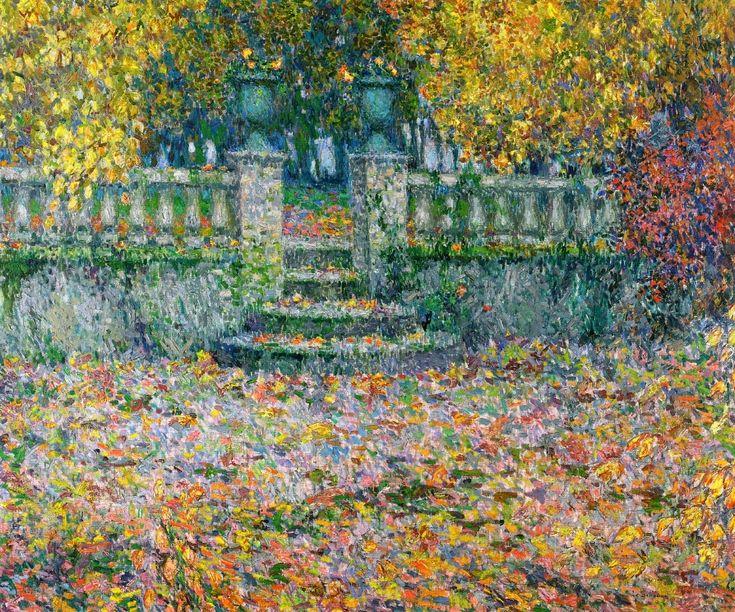 The Athenaeum - The Terrace, Autumn, Gerberoy (Henri Le Sidaner - 1922)