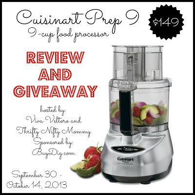 Cuisinart Prep 9 Food Processor Review and Giveaway courtesy of BuyDig.com!  ARV $149