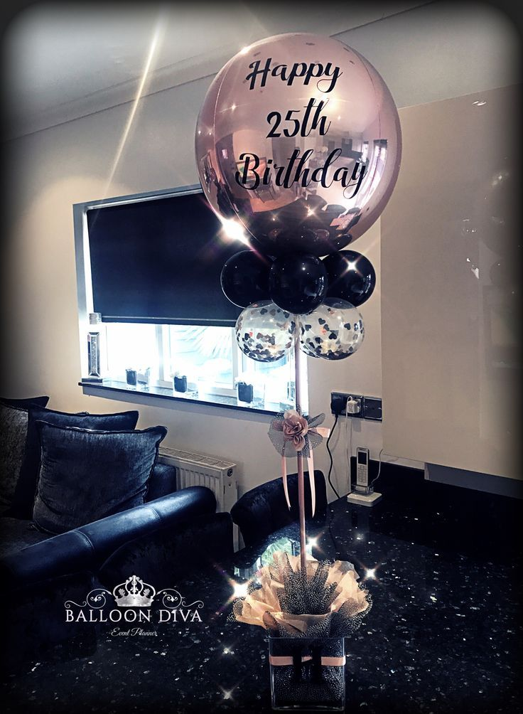 Personalised Bespoke Orb Table Centrepiece 60th Birthday Party Decorations 40th Ideas 25th
