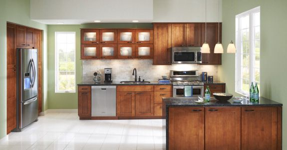 Cabinets, Kitchens and Green on Pinterest