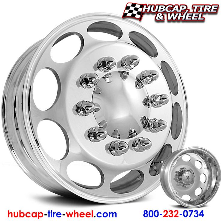 American Force Caliber Dually Wheels & Rims - Polished (not chrome). FREE shipping!