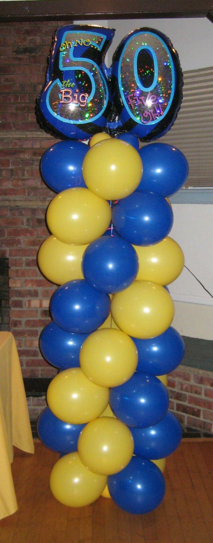 Yellow And Blue Balloon Column Pokemon Party Ideas