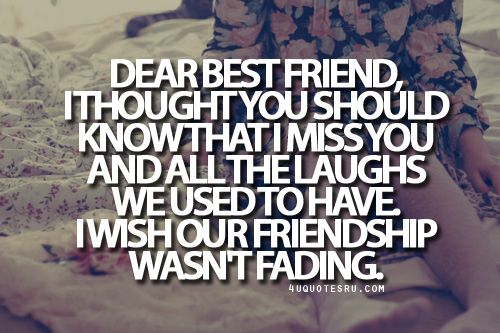 Broken Friendship Quotes and Sayings | Miss My Bff Sayings
