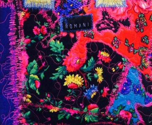 Romani Unique black pattern 2015 gypsy roma style rose fashion textile rose inspiration hungary budapest