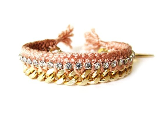 Strass Pulseira da Amizade: Rhinestones, Fashion, Gold Watch, Jewelry, Accessories, Friendship Bracelets, Rhinestone Friendship