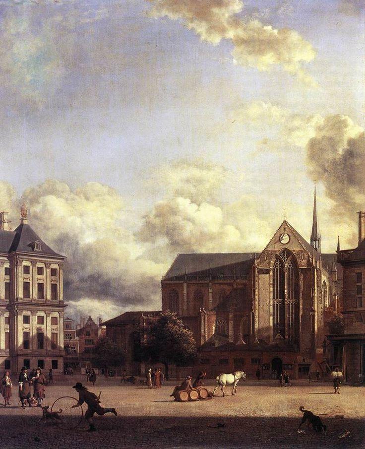 Dam Square, Amsterdam - Jan van der Heyden, c. 1668 - Oil on canvas, Historisch Museum, Amsterdam