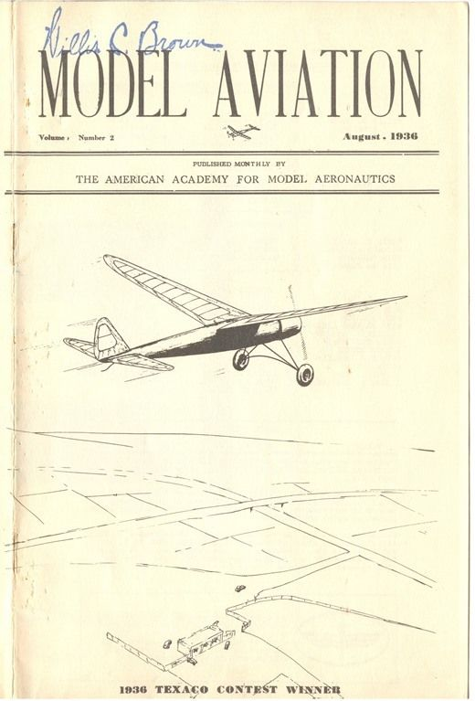 National Model Aviation Museum Lee Renaud Memorial Library. Model Aviation, vol. 1, no. 2, August 1936.