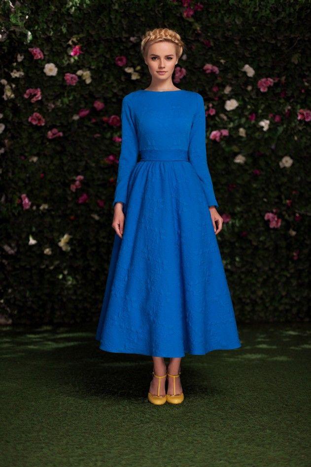 Платье «Аврора» миди синее — 27 990 рублей
