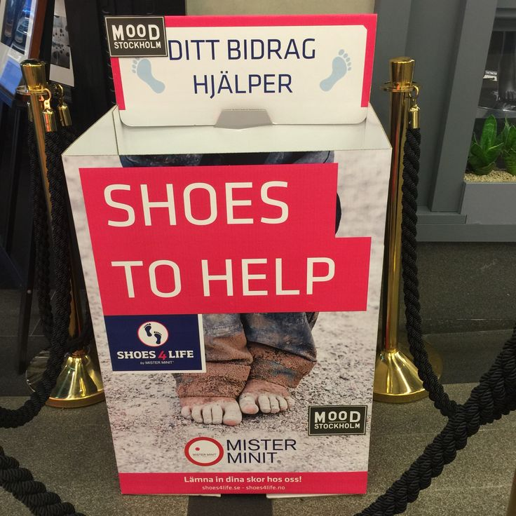 Charity. Central Stockholm.