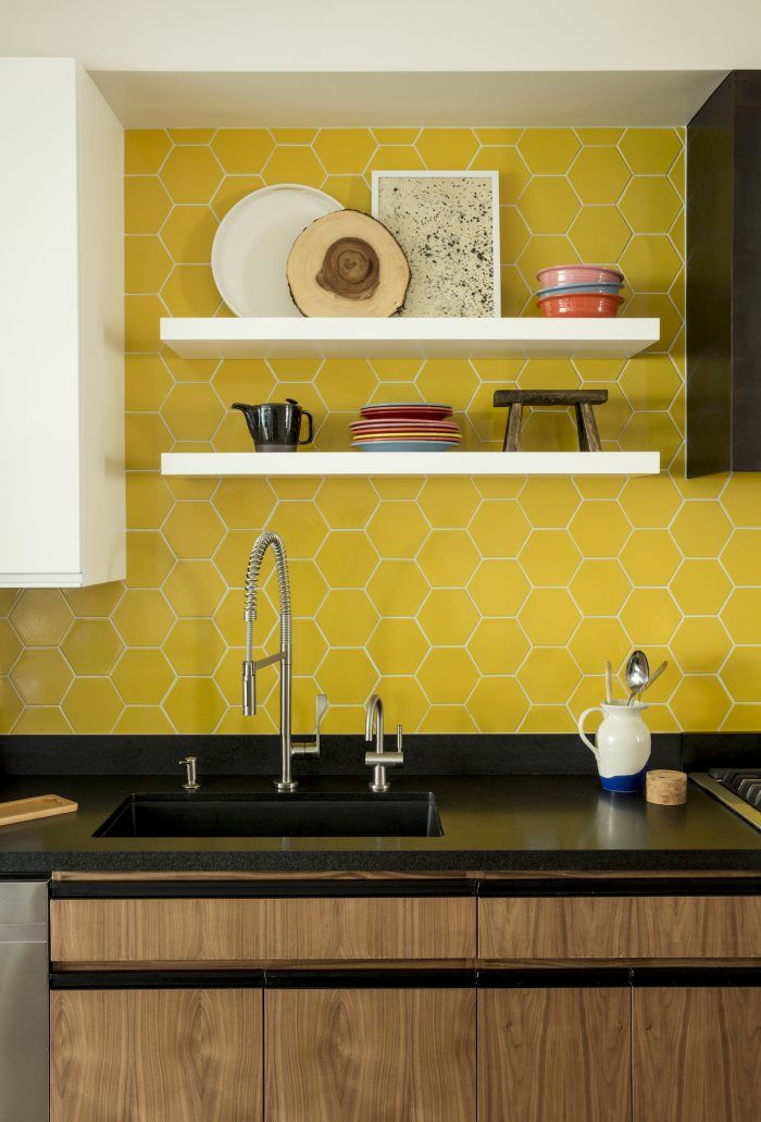 Www Fireclaytile Com Gallery Detail Bright Honeycomb Tile Kitchen