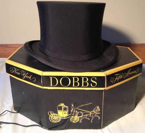 ANTIQUE VINTAGE PENN- CRAFT TOP HAT AND DOBBS HAT BOX