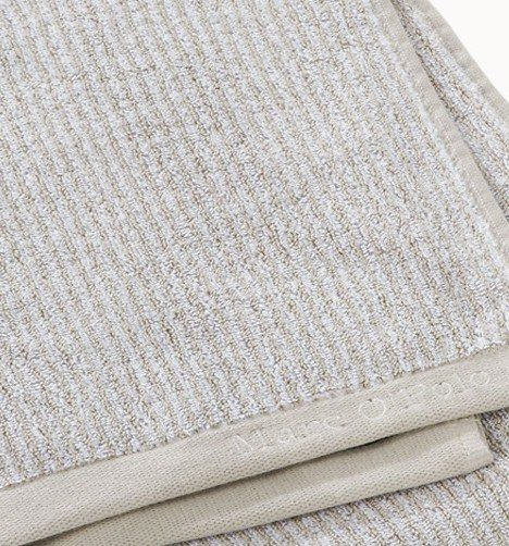 Marc O'Polo Handdoeken Timeless Tone Stripe deep oatmeal/white