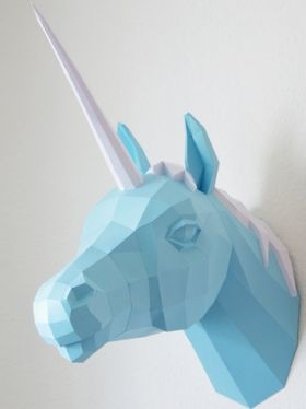 Papercraft Unicorn, Paper Trophy, Number 2 Horn Trilogy