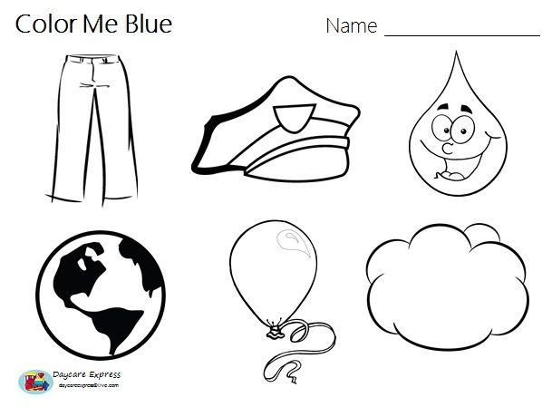 Worksheets Color Blue Worksheet color blue worksheets and crafts on pinterest