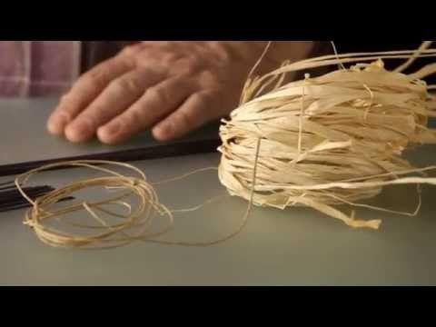 Floral Recipe ' Raffia Canopy composition' - YouTube