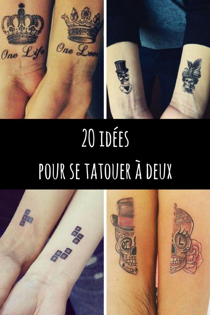 tatouage couple 20 id es pour se faire tatouer deux. Black Bedroom Furniture Sets. Home Design Ideas