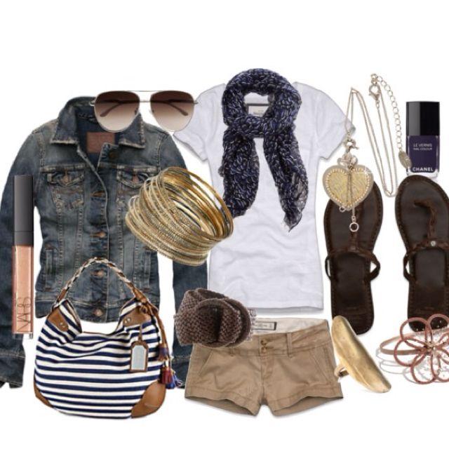 +: Summer Day, Summer Looks, Style, Jeans Jackets, Fashion Outfits, Spring Summ, Summer Outfits, Spring Outfits, Khakis Shorts