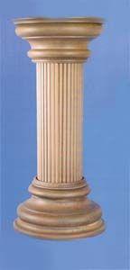 Columna con capitel y base estilo Dórico.  Fabricado y decorado artesanalmente con un material innovador resistente y ligero como es la resina de poliuretano. Tiene un tacto semejante a la madera pero sin sus inconvenientes. Medidas: Altura 80 cm, base y capitel 33,5 cm de anchura.  Precio: 193 euros #decoracion con encanto #Espejos