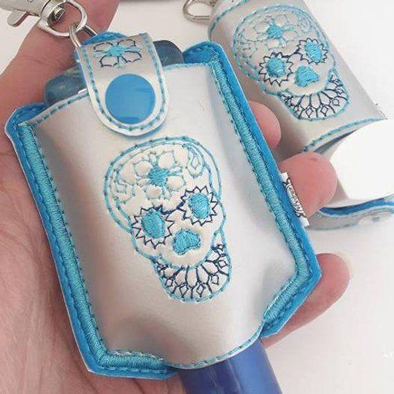 Sugar Skull Gothic Gift Inhaler Holder Sanitiser Holder Anti B