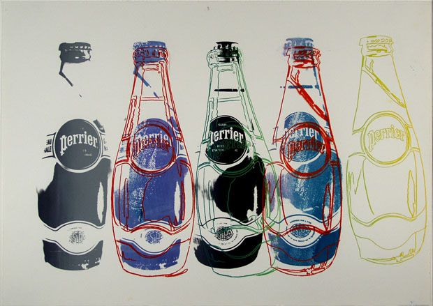 Warhol's Perrier bottles (c. 1982) PD