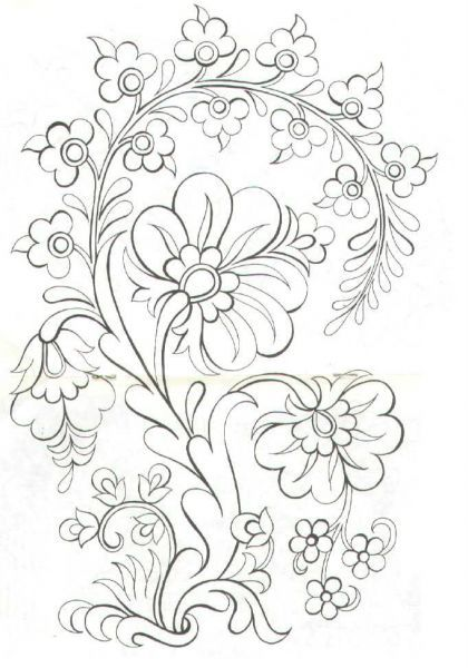 Floral line drawing