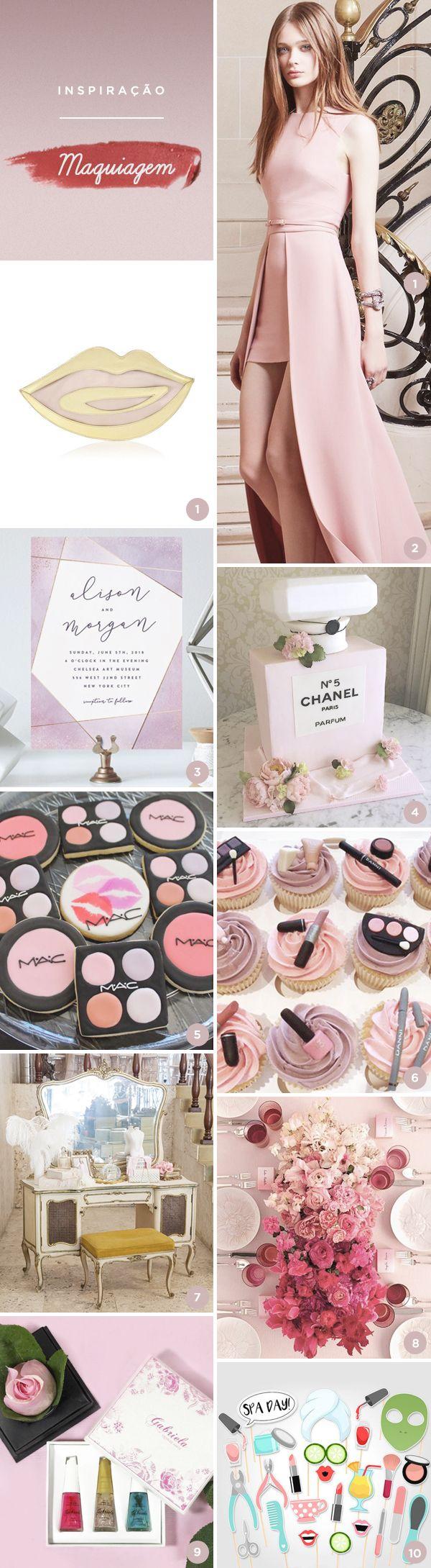 Que tal uma festa de 15 anos com tema beleza? Selecionamos 10 lindas ideias, do vestido ao acessório, passando por decoração, bolo, convite...