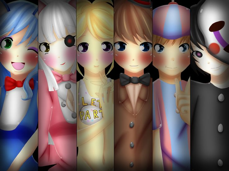 Five Nights At Freddy's 2 humanos