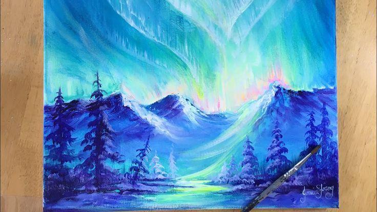 World Wonder Landscape Large Art Poster Canvas Picture Print Northern Lights