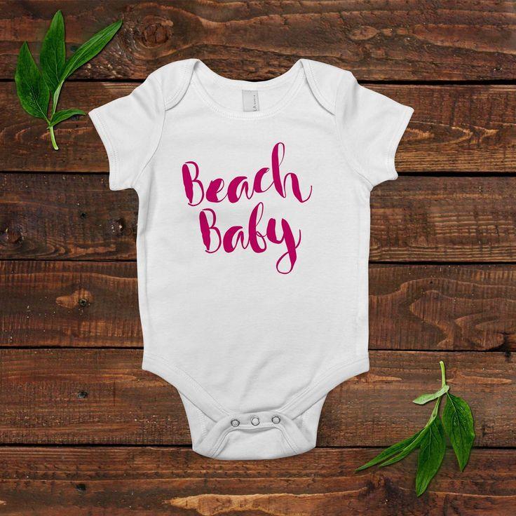 Baby Girl Beach Outfit Shirt - Summer Baby Bodysuit - Newborn Baby Girl Gift
