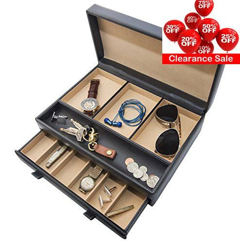 #homedecor  NEATLY ORGANIZE #YOUR ACCESSORIES This handsome #dresser mens valet organizer has compartments for all of your mens jewelry and treasured personal bel...