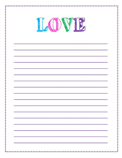 Free Printable Valentines Day To Do Lists – Free Printable Lined Paper Template
